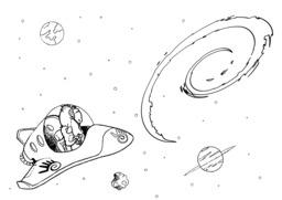 Gnu et Tux dans l'espace. Source : http://data.abuledu.org/URI/55c0e0e5-gnu-et-tux-dans-l-espace