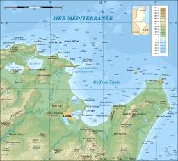 Golfe de Tunis. Source : http://data.abuledu.org/URI/51d19f30-golfe-de-tunis