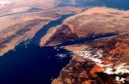 Golfes de Suez et d'Aqaba. Source : http://data.abuledu.org/URI/5531625b-golfes-de-suez-et-d-aqaba