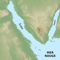Golfes de Suez et d'Aqaba. Source : http://data.abuledu.org/URI/55316423-golfes-de-suez-et-d-aqaba