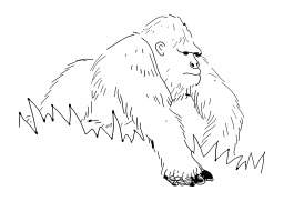 Gorille. Source : http://data.abuledu.org/URI/502673bf-gorille