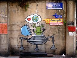 Graffiti d'extra-terrestre à Bangkok. Source : http://data.abuledu.org/URI/54c0302d-graffiti-d-extra-terrestre-a-bangkok