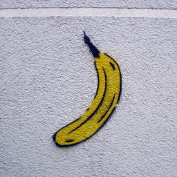 Graffiti de banane au pochoir. Source : http://data.abuledu.org/URI/530f0bf0-graffiti-de-banane-au-pochoir
