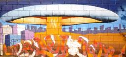 Graffiti de champignon atomique à Pampelune. Source : http://data.abuledu.org/URI/54133f54-graffiti-de-champignon-atomique-a-pampelune