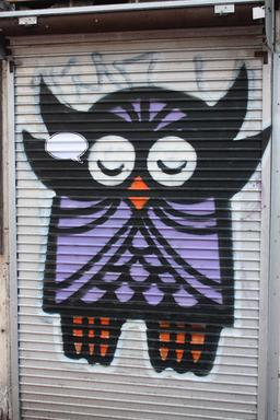Graffiti de hibou. Source : http://data.abuledu.org/URI/5353a993-graffiti-de-hibou