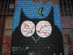 Graffiti de hibou à Zurich. Source : http://data.abuledu.org/URI/5353acf6-graffiti-de-hibou-a-zurich