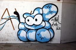 Graffiti del'homme-nuage. Source : http://data.abuledu.org/URI/54133d51-graffiti-de-l-homme-nuage