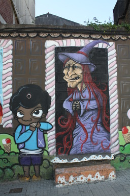 Graffiti de sorcière. Source : http://data.abuledu.org/URI/502d775d-graffiti-de-sorciere