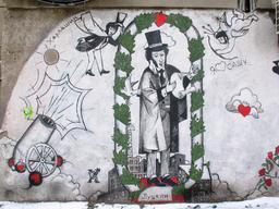 Graffiti ukrainien de Pouchkine. Source : http://data.abuledu.org/URI/5942e1a3-graffiti-ukrainien-de-pouchkine