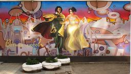 Graffiti ukrainien de Pouchkine et sa femme. Source : http://data.abuledu.org/URI/5942e233-graffiti-ukrainien-de-pouchkine-et-sa-femme