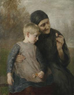 Grand-mère et petite-fille au XIXème siècle. Source : http://data.abuledu.org/URI/5210c614-grand-mere-et-petite-fille-au-xixeme-siecle