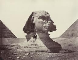 Grand Sphinx de Gizeh en 1888. Source : http://data.abuledu.org/URI/59465b6b-grand-sphinx-de-gizeh-en-1888
