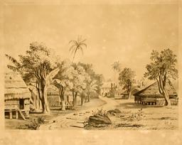 Grande rue d'Umata en 1838. Source : http://data.abuledu.org/URI/59810a10-grande-rue-d-umata-en-1838