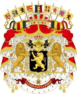 Grandes armoiries du royaume de Belgique. Source : http://data.abuledu.org/URI/5378fa29-grandes-armoiries-du-royaume-de-belgique