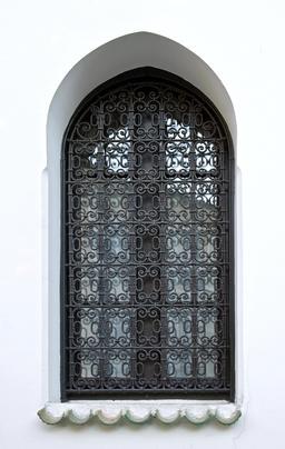 Grille de fenêtre de la Mosquée de Paris. Source : http://data.abuledu.org/URI/53e33250-grille-de-fenetre-de-la-mosquee-de-paris