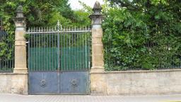 Grille de portail à Montignac-24. Source : http://data.abuledu.org/URI/5994e21e-grille-de-portail-a-montignac-24