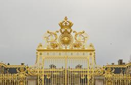 Grille dorée du château de Versailles. Source : http://data.abuledu.org/URI/5352539d-grille-doree-du-chateau-de-versailles