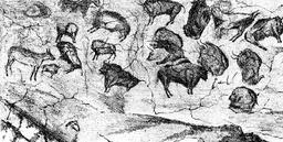 Grotte d'Altamira en 1880. Source : http://data.abuledu.org/URI/5248848c-grotte-d-altamira-en-1880