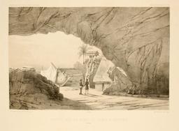 Grottes sur le bord de la mer à Lebouka en 1838. Source : http://data.abuledu.org/URI/5980b340-grottes-sur-le-bord-de-la-mer-a-lebouka-en-1838