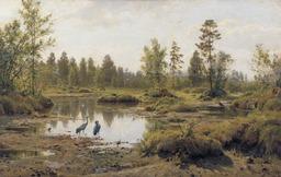 Grues au bord de l'étang. Source : http://data.abuledu.org/URI/51390681-grues-au-bord-de-l-etang