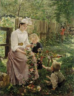 Guirlande de fleurs tressées. Source : http://data.abuledu.org/URI/53525551-guirlande-de-fleurs-tressees