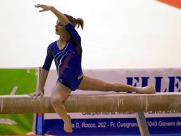 Gymnaste italienne à la barre fixe. Source : http://data.abuledu.org/URI/5473598a-gymnaste-italienne-a-la-barre-fixe