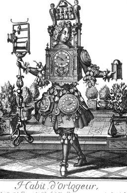 Habit d'horloger au 17ème siècle. Source : http://data.abuledu.org/URI/592c2911-habit-d-horloger