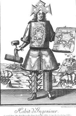 Habit d'ingénieur au 17ème siècle. Source : http://data.abuledu.org/URI/592c288b-habit-d-ingenieur