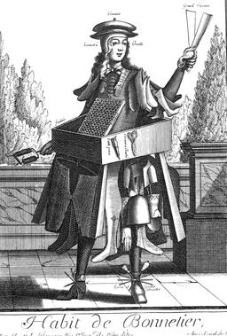 Habit de bonnetier au 17ème siècle. Source : http://data.abuledu.org/URI/592b616b-habit-de-bonnetier-au-17eme-siecle