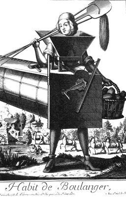 Habit de boulanger au 17ème siècle. Source : http://data.abuledu.org/URI/592b61f7-habit-de-boulanger-au-17eme-siecle