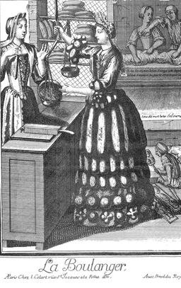 Habit de boulangère au 17ème siècle. Source : http://data.abuledu.org/URI/592b6254-habit-de-boulangere-au-17eme-siecle