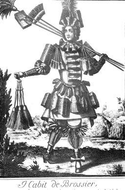 Habit de brossier au 17ème siècle. Source : http://data.abuledu.org/URI/592b885d-habit-de-brossier-au-17eme-siecle