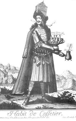 Habit de cafetier au 17ème siècle. Source : http://data.abuledu.org/URI/592b8e49-habit-de-cafetier-au-17eme-siecle