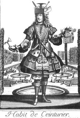 Habit de ceinturier au 17ème siècle. Source : http://data.abuledu.org/URI/592b90e3-habit-de-ceinturier-au-17eme-siecle