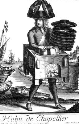 Habit de chapelier au 17ème siècle. Source : http://data.abuledu.org/URI/592b938d-habit-de-chapelier-au-17eme-siecle
