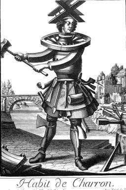 Habit de charron au 17ème siècle. Source : http://data.abuledu.org/URI/592b92f8-habit-de-charron-au-17eme-siecle
