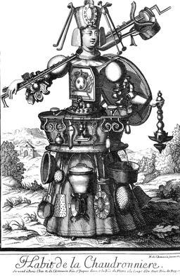 Habit de chaudronnière au 17ème siècle. Source : http://data.abuledu.org/URI/592b943f-habit-de-chaudronniere-au-17eme-siecle