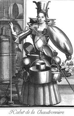 Habit de chaudronnière au 17ème siècle. Source : http://data.abuledu.org/URI/592b9602-habit-de-chaudronniere-au-17eme-siecle
