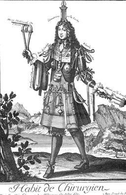 Habit de chirurgien au 17ème siècle. Source : http://data.abuledu.org/URI/592b9734-habit-de-chirurgien-au-17eme-siecle