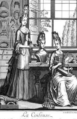 Habit de coiffeuse au 17ème siècle. Source : http://data.abuledu.org/URI/592b985e-habit-de-coiffeuse-au-17eme-siecle