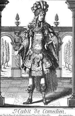 Habit de comédien au 17ème siècle. Source : http://data.abuledu.org/URI/592b994a-habit-de-comedien-au-17eme-siecle