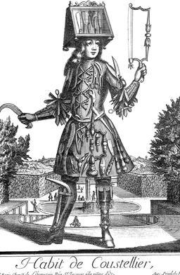 Habit de coutelier au 17ème siècle. Source : http://data.abuledu.org/URI/592c2549-habit-de-coutelier