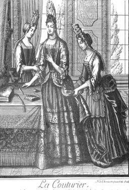 Habit de couturière au 17ème siècle. Source : http://data.abuledu.org/URI/592c268d-habit-de-couturiere