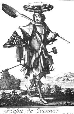Habit de cuisinier au 17ème siècle. Source : http://data.abuledu.org/URI/592c274c-habit-de-cuisinier
