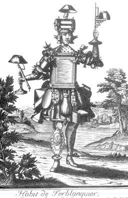 Habit de ferblantier au 17ème siècle. Source : http://data.abuledu.org/URI/592c2a14-habit-de-ferblantier