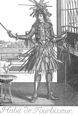 Habit de fourbisseur au 17ème siècle. Source : http://data.abuledu.org/URI/592c32eb-habit-de-fourbisseur