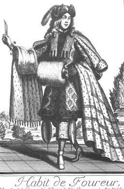 Habit de fourreur au 17ème siècle. Source : http://data.abuledu.org/URI/592c7839-habit-de-fourreur-au-17eme-siecle