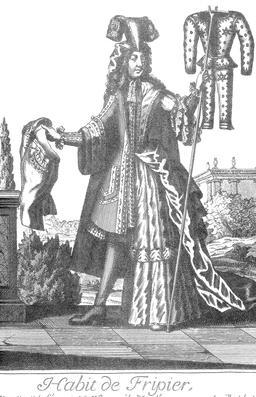 Habit de fripier au 17ème siècle. Source : http://data.abuledu.org/URI/592c78f7-habit-de-fripier-au-17eme-siecle