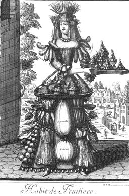 Habit de fruitière au 17ème siècle. Source : http://data.abuledu.org/URI/592c798f-habit-de-fruitiere-au-17eme-siecle