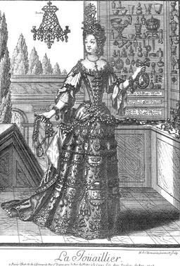 Habit de joaillère au 17ème siècle. Source : http://data.abuledu.org/URI/592c7ccc-habit-de-joailleres-au-17eme-siecle